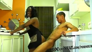Black Couple hard sex Blonde big