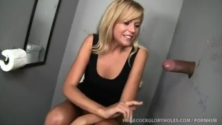 Darcy Sucks Black Cock At Club Gloryhole  handjob orgasm cock washroom blow job panties cumshot cum gloryhole jizz