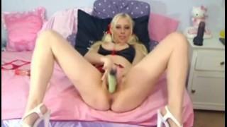 Cute Blonde Self Service HD Masturbating blonde