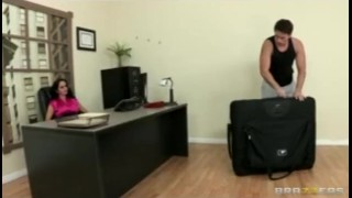 HOT horny executive Ava Addams massaged and fucked hard in office Teen pussy