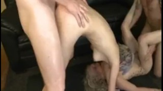 Two Bi Bitches Getting Dicked By Two Dudes