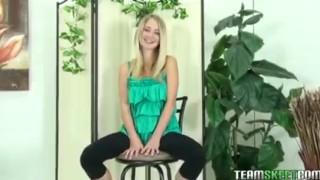 ThisGirlSucks blonde teen Casi James handjob blowjob cock facial porno
