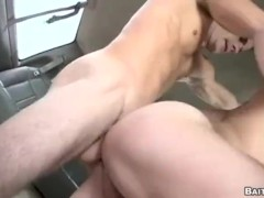Redhead gets asshole banged out