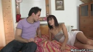 She cheats with her BF's bro  cheating teen cuckold euro amateur young hardcore fuck real girlfriend gf european brother mybrosgf.com