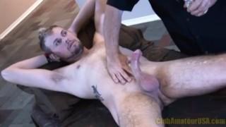 Jacked hard throbbing rock cock massage causa
