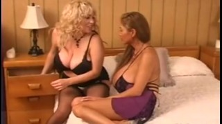 Huge breasts lesbian babes sex licking pussy and squizing