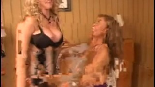 Huge breasts lesbian babes sex licking pussy and squizing porno