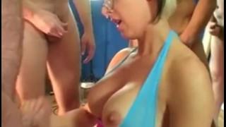 British milf Tracy Venus bukkake porno