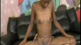 Black Nympho Fucked Hard By A White Dude