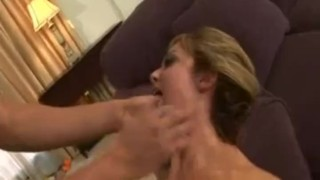 Blonde whore getting a rough fucking