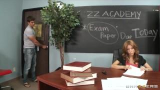 Big-boobed sex hungry teacher Aleksa Nicole fucks her student