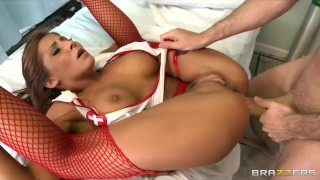HOT busty nurse Madison Ivy paid for rough-sex by hospital doctor Job cum