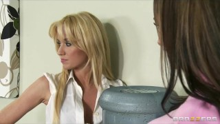 Hot & Mean lesbians punish new office secretary with a strap-on Adult teenager