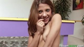 ThisGirlSucks sexy brunette teen Evilyn Fierce blowjob handjob co