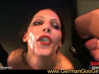 Viktoria goes on a cum drinking spree