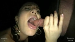 Gloryhole Swallow MILF Taylor 5th Visit  swallow cumshot taylor blowjob gloryhole