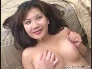 Naughty Asian big cock gobble!