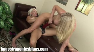 Xana pounds Allison with a huge strapon dildo  sex-toy strapon pussy-licking lez dildo lesbians lesbo blonde sextoy strap hugestraponlesbians.com lesbian girl-on-girl pornstars toyadult-toys