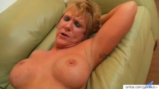 Horny granny loves facials