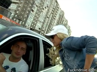 Pregnant Massage Tube Blond babe picked up by BMW driver and fucked in car