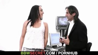 Married boss bangs his fat black secretary  big ass large breasts chunky bbw cuckold amateur cheat chubby fat busty plump bbwsecret.com big butt huge boob huge tits large ladies