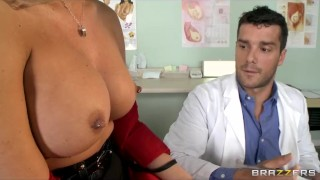 HOT big-tit blond Samantha Saint fucks her doctor for a checkup
