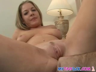 Blonde babe spreads and gets fingered in her cunt