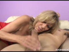 Grandmother wants to stay young by fucking a hard dick