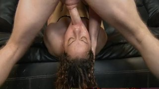 Thick Latina Amateur Gets Throat Slamed