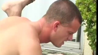 and black scene white workout cumshot outdoors
