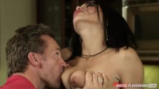Hot & horny Latina babe Selena Rose fucks big-dick in the kitchen