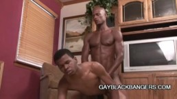 Two hot ebony studs having some gay love