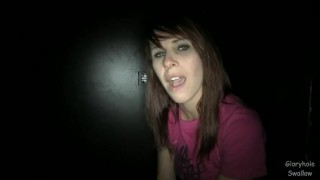 Gloryhole Swallow Melanie1  swallow melanie cumshot blowjob gloryhole