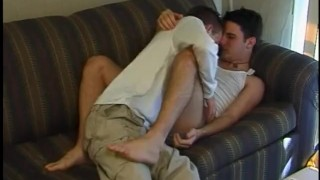 Feet rituals  scene fraternity sucking young