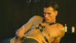 Studs threesome leather cock strong