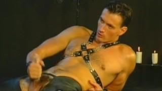Threesome Leather Studs Tied wax
