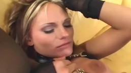 Tall babe fucking in stockings