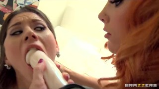 Preview 6 of Stunning natural brunette Dani is fucked her fiery redhead GF