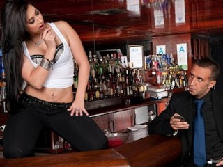 Amateur Cumshot Video Sexy brunette bartender Valerie Kay loves to fuck her customers