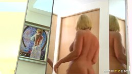 Dominant big-tit blonde MILF Mellanie Monroe fucks her employee