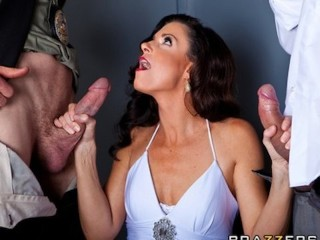 Andrew Keen Cult Of The Amateur Busty slutty brunette India Summer is gangbanged by two cops