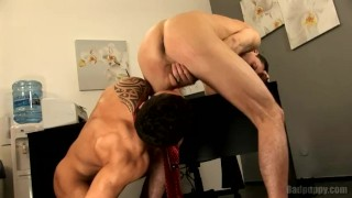 Finger and rimjob gay anal