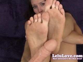 Lelu Love-Dildo Virtual Feet Cumshot