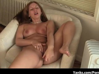 Chubby Teen with Great Tits has Strong Orgasm