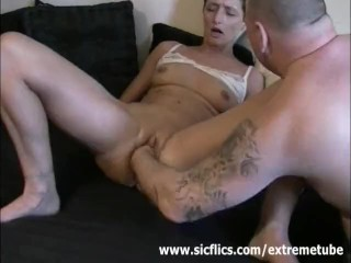 Her pussy is destroyed by his gigantic fist