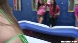 Amateur college jello wrestling