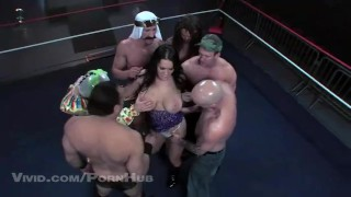 Gangbang chyna ring queen the parody wrestler of in a gangbang groupsex