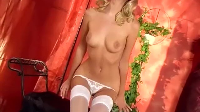 Sheer white lingerie thumbnails - Sexy white lingerie on this petite blonde cutie