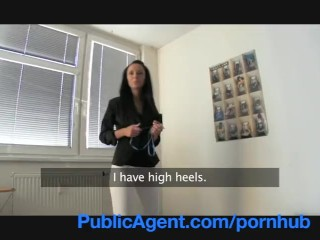 Codi Swallow Cum Allure PublicAgent Stunning Estate Agent sells herself