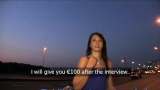 PublicAgent Sexy brunette loves my charm and money. - BigTitsPornVids